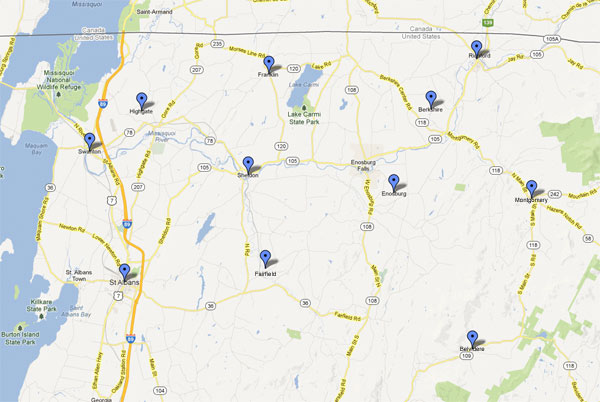 We service Franklin County, Vermont and the northern Champlain Valley